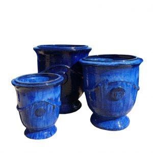 """Glazed Sapphire  """"Anduze Urn"""""""