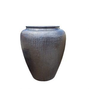 Glazed Sapphire Dimple Jar