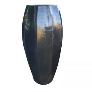 Glazed Sapphire Star Fruit Jar