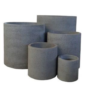 Metro Stone Cylinder Planter