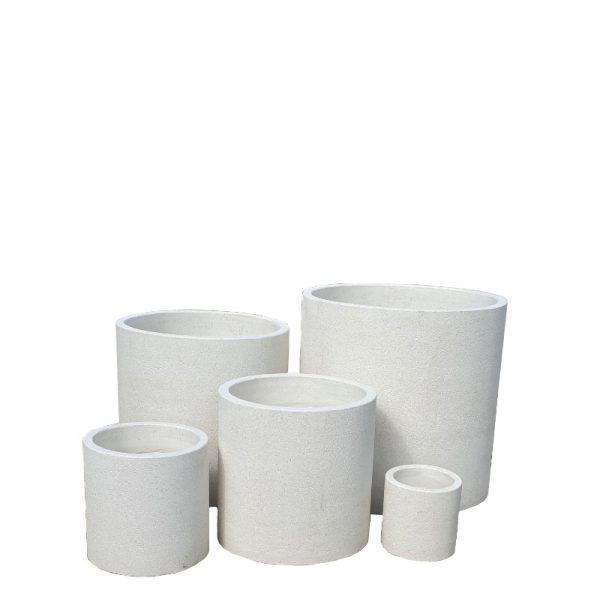 Island White Cylinder pot