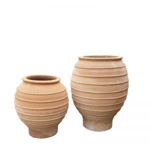 "Greek Terracotta "" Koronios Urn"""