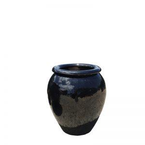 Glazed Blue Water Jar
