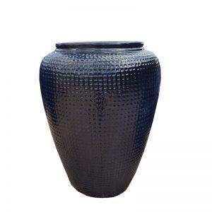 Glazed Black Dimple Jar