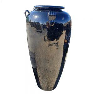 Glazed Black Tall Temple jar