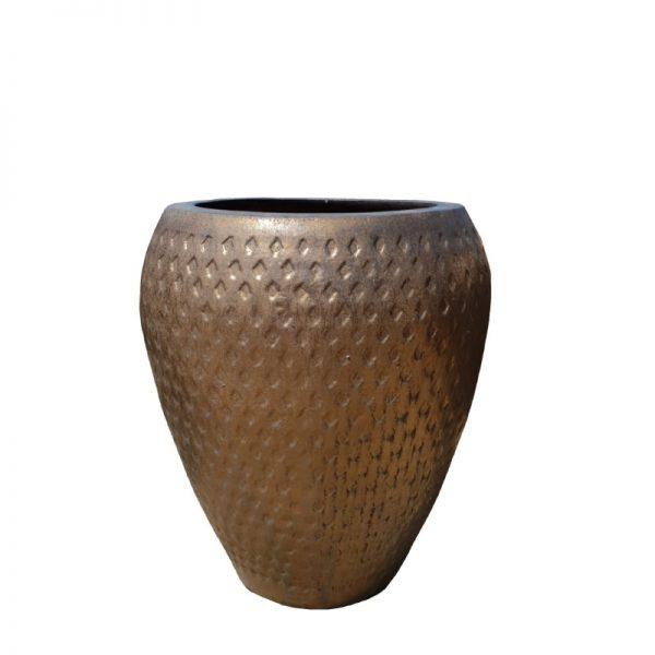 Heavy Metal Glazed Diamond Jar