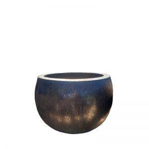 Glazed Black Ball Planter
