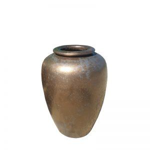 Glazed Blue Temple Jar