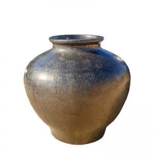 Glazed Sapphire Shangri-la pot