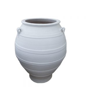 """Greek White """"Bala"""" Pot"""
