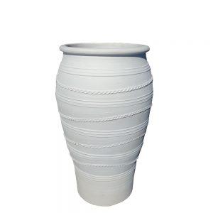 "Greek White ""Milatos"" Urn"