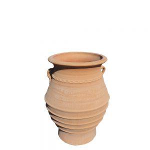"Greek Terracotta ""Vaso"" Jar"